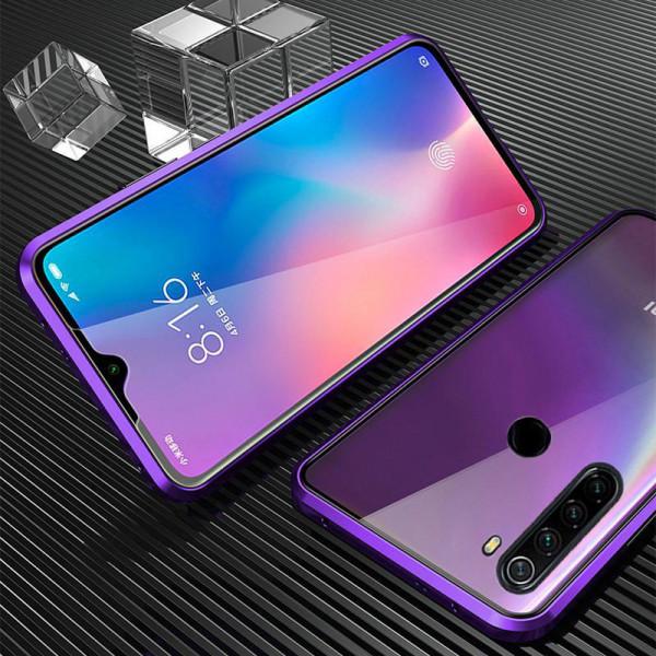 Двухсторонний магнитный чехол для Xiaomi Redmi Note 8 Фиолетовый