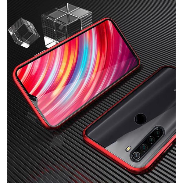 Двухсторонний магнитный чехол для Xiaomi Redmi Note 8T Красный