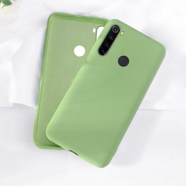 Силиконовый чехол Soft Touch для Xiaomi Redmi Note 8T Зеленый