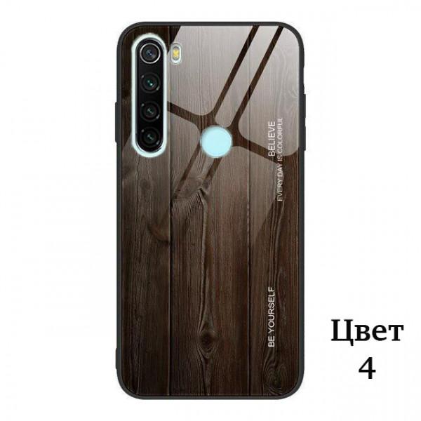 Глянцевый чехол Wood для Xiaomi Redmi Note 8T Черный