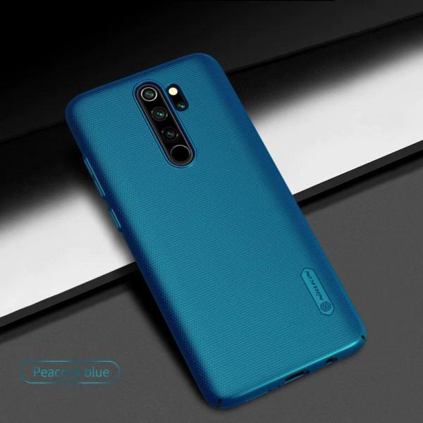 Чехол бампер Nillkin Frosted shield для Xiaomi Redmi Note 8 Pro Синий
