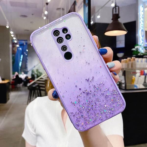 Чехол Stardust с цветными бортиками для Xiaomi Redmi 9 Фиолетовый