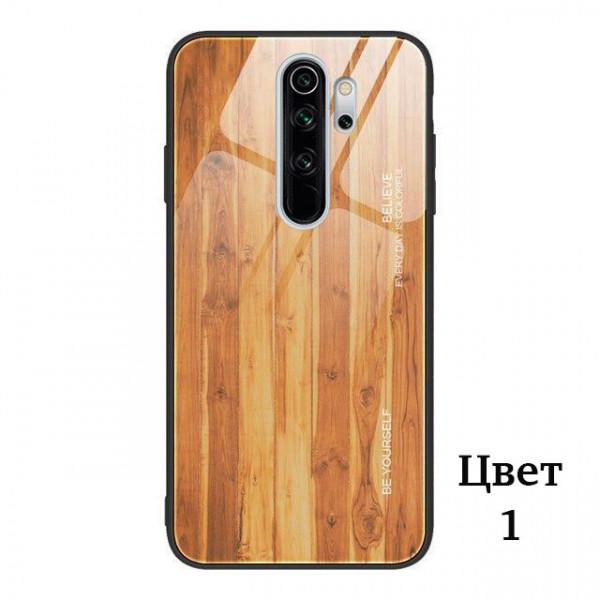 Глянцевый чехол Wood для Xiaomi Redmi Note 8 Pro Светло-коричневый