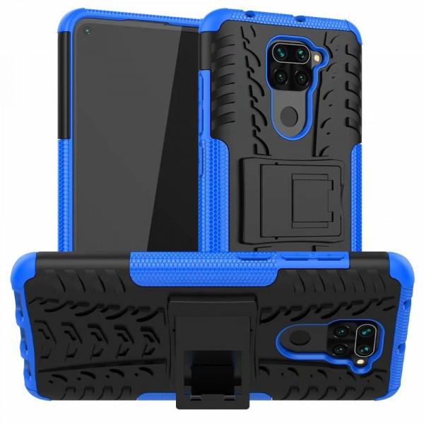Бронированный бампер для Xiaomi Redmi Note 9 Синий