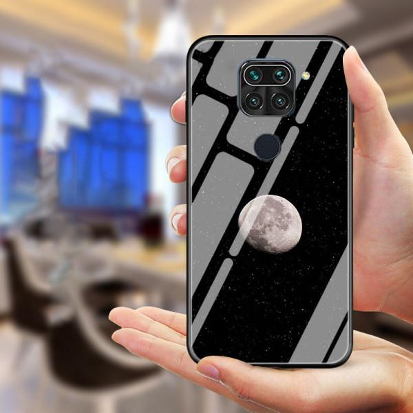 Глянцевый силиконовый бампер для Xiaomi Redmi Note 9 Луна