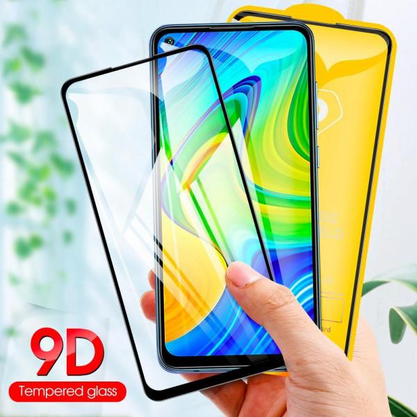 Защитное стекло Full Glue 9D с полным покрытием для Xiaomi Redmi Note 9