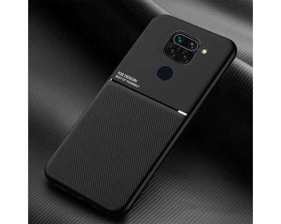 Силиконовый чехол IQS Design для Xiaomi Redmi Note 9 Черный