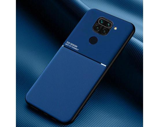 Силиконовый чехол IQS Design для Xiaomi Redmi Note 9 Синий