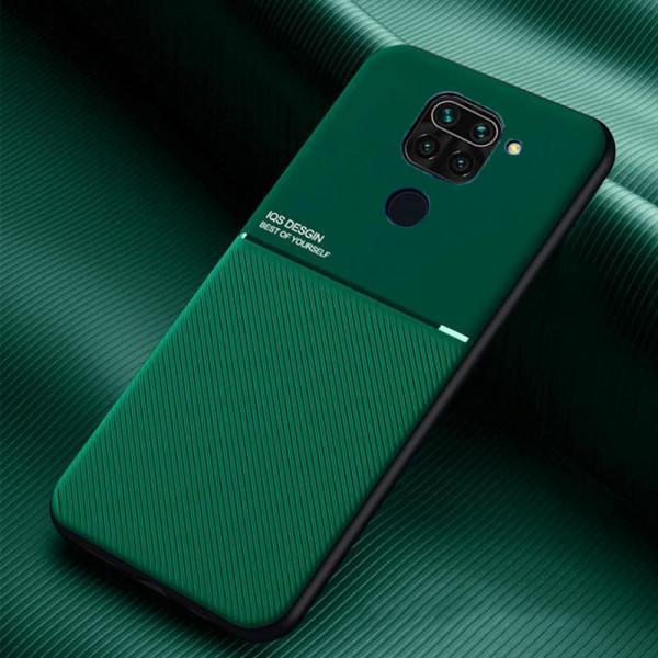 Силиконовый чехол IQS Design для Xiaomi Redmi Note 9 Зеленый
