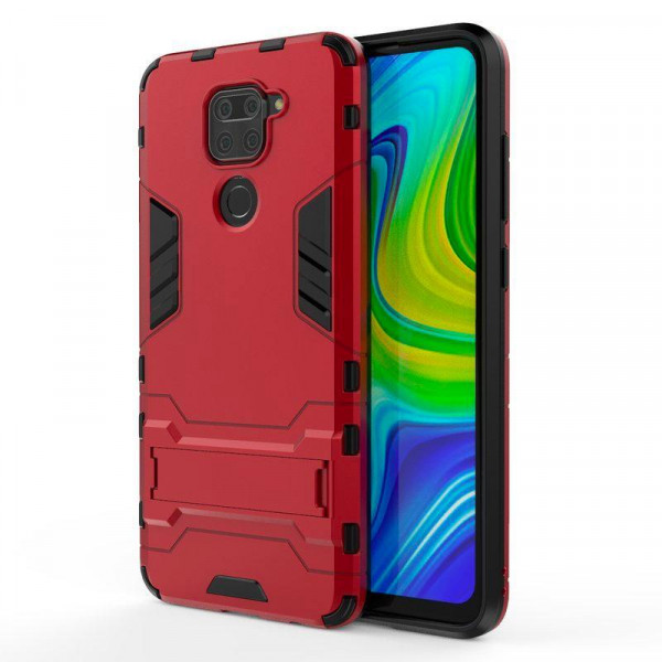IronMan ультратонкий защитный бампер для Xiaomi Redmi Note 9 Красный