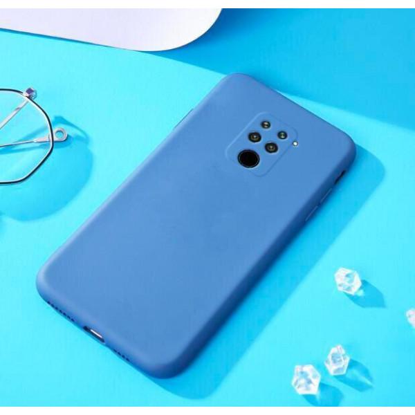 Силиконовый чехол Soft Touch для Xiaomi Redmi Note 9 Синий