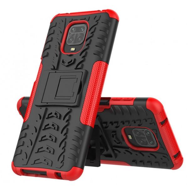 Бронированный бампер для Xiaomi Redmi Note 9s/Pro Красный