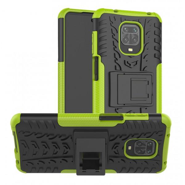 Бронированный бампер для Xiaomi Redmi Note 9s/Pro Зеленый