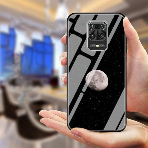 Глянцевый силиконовый бампер для Xiaomi Redmi Note 9s/Pro Луна