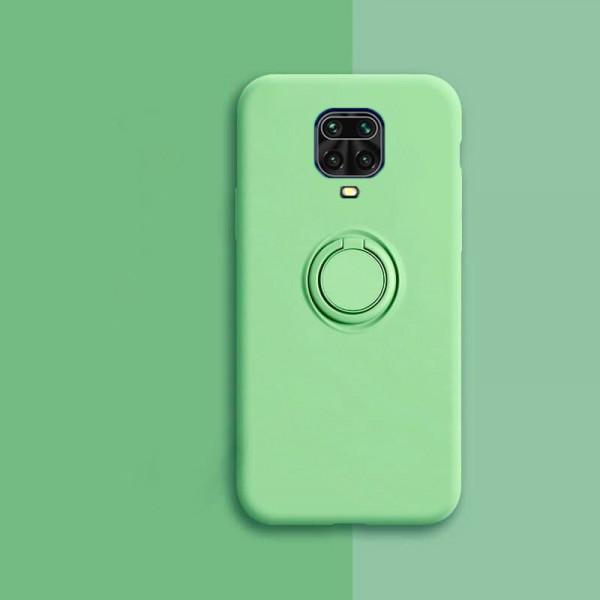 Силиконовый чехол Soft Touch с кольцом-держателем для Xiaomi Redmi Note 9s/Pro Зеленый