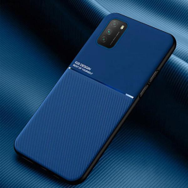 Силиконовый чехол IQS Design для Xiaomi Poco M3 Синий