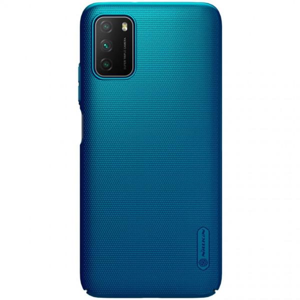 Чехол бампер Nillkin Frosted shield для Xiaomi Poco M3 Синий