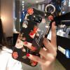 Силиконовый чехол для Xiaomi Poco X3 NFC с ремешком-подставкой Розы на черном