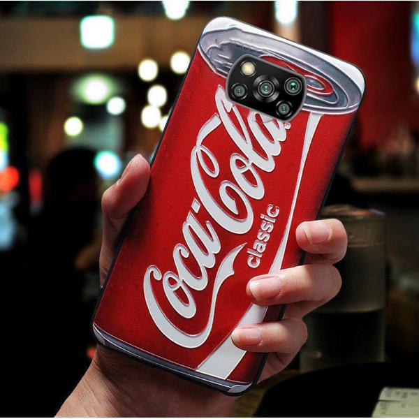 Силиконовый чехол для Xiaomi Poco X3 с 3d-принтом - Cola