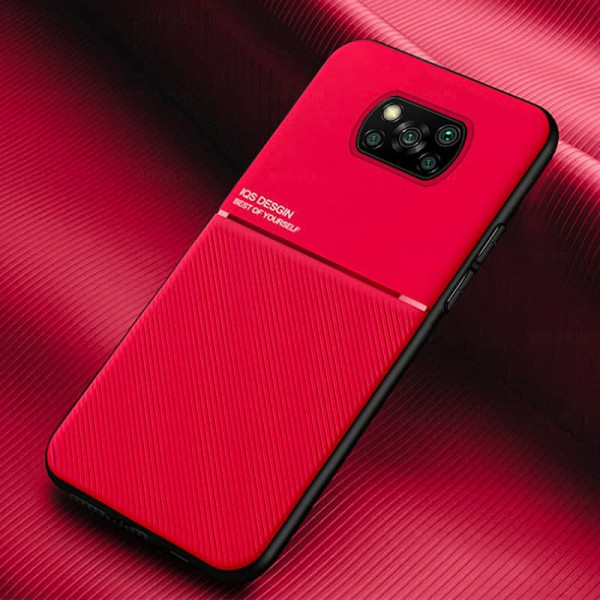 Силиконовый чехол IQS Design для Xiaomi Poco X3 NFC Красный