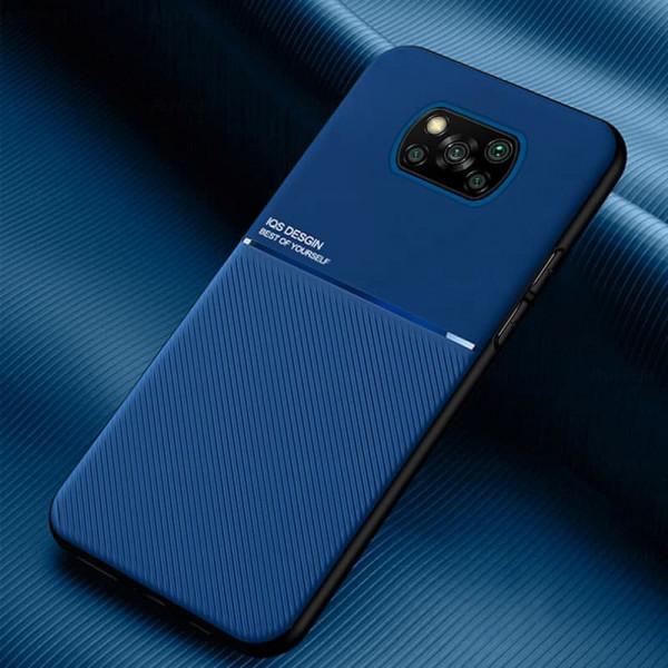 Силиконовый чехол IQS Design для Xiaomi Poco X3 NFC Синий