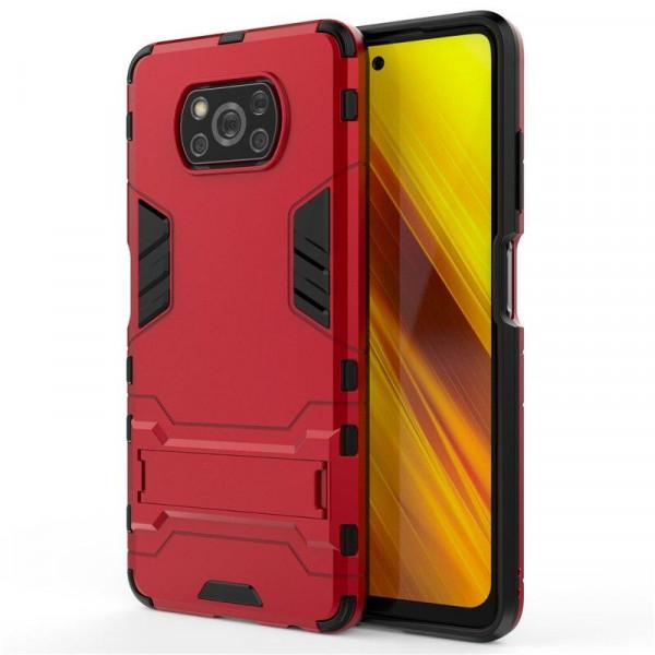 IronMan ультратонкий защитный бампер для Xiaomi Poco X3 NFC Красный