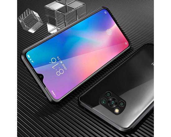 Двухсторонний магнитный чехол для Xiaomi Poco X3 NFC Чёрный