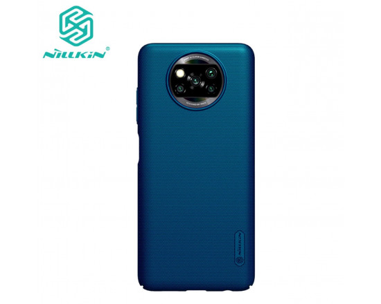 Чехол бампер Nillkin Frosted shield для Xiaomi Poco X3 NFC Синий