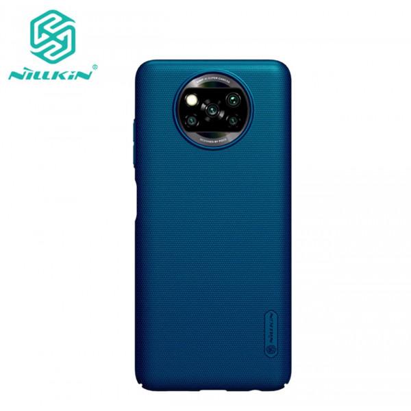 Чехол бампер Nillkin Frosted shield для Xiaomi Poco X3 NFC Синий
