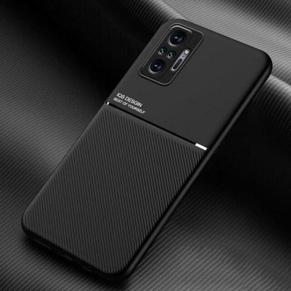 Силиконовый чехол IQS Design для Xiaomi Redmi Note 10 Pro Чёрный