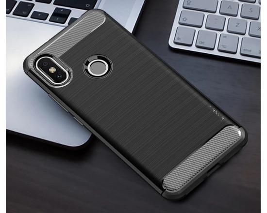 Силиконовый бампер Ipaky с карбоновыми вставками для Xiaomi Redmi S2 (черный)
