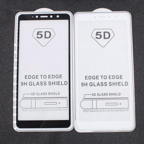Защитное стекло с полным покрытием 5D для телефона Xiaomi Redmi S2