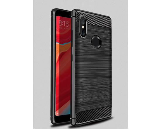 Силиконовый чехол с карбоновой вставкой для Xiaomi Redmi S2