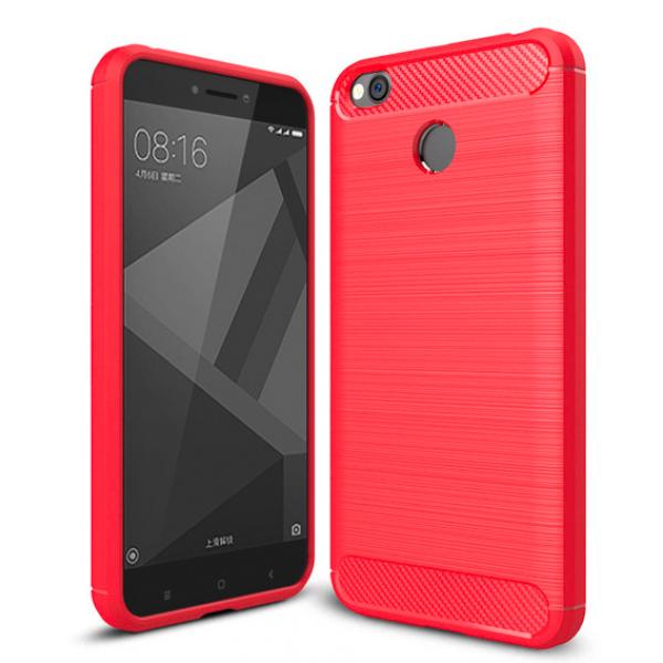 Силиконовый бампер Ipaky с карбоновыми вставками для Xiaomi RedMi 4X