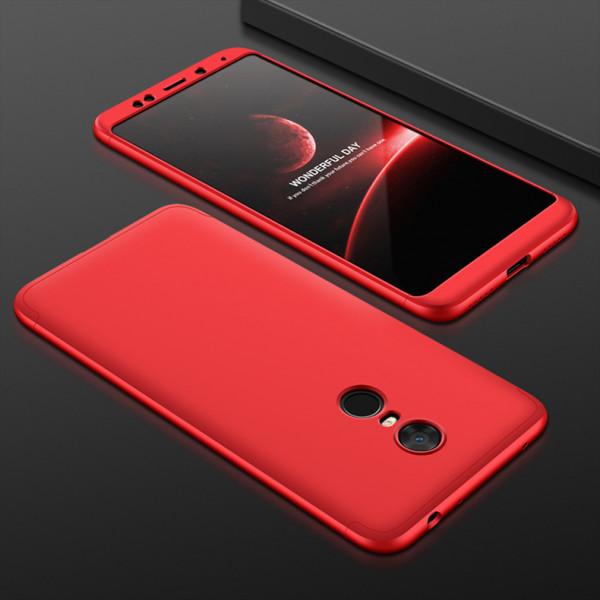 Матовый защитный чехол GKK 360° для Xiaomi Redmi 5 Plus Красный