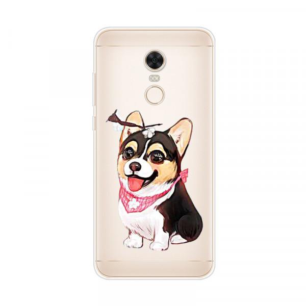 Силиконовый чехол для Xiaomi Redmi 5 Plus с картинкой Собака