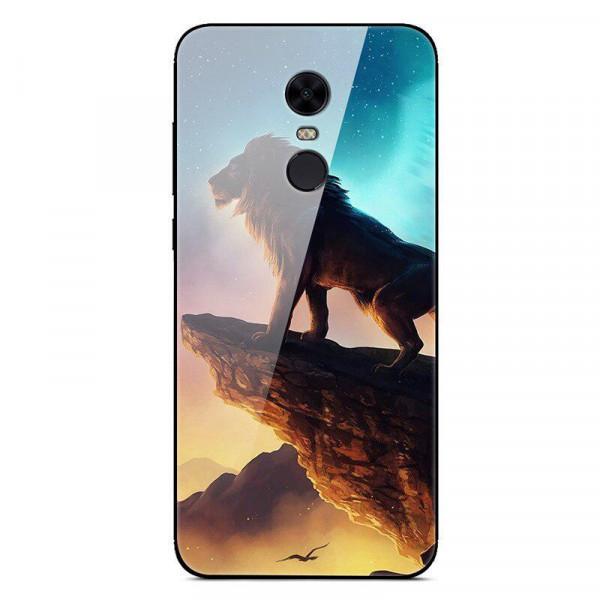 Глянцевый силиконовый бампер для Xiaomi Redmi 5 Plus Король Лев