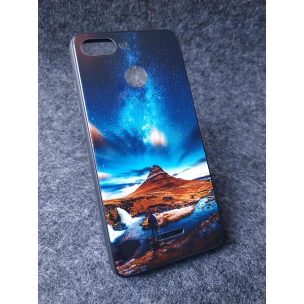 Глянцевый силиконовый бампер для Xiaomi Redmi 4x с картинкой Исландия