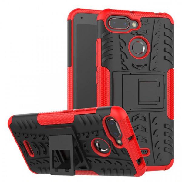 Бронированный силиконовый бампер для Xiaomi Redmi 6 Красный