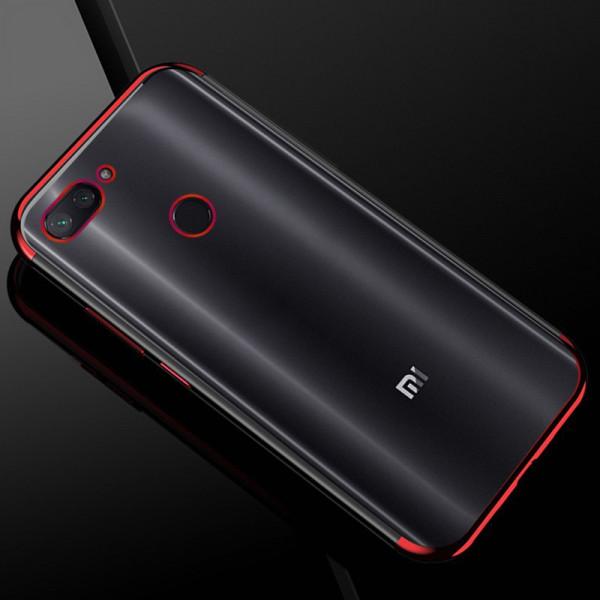 Силиконовый чехол с цветными рамками для Xiaomi Redmi 6 Красный