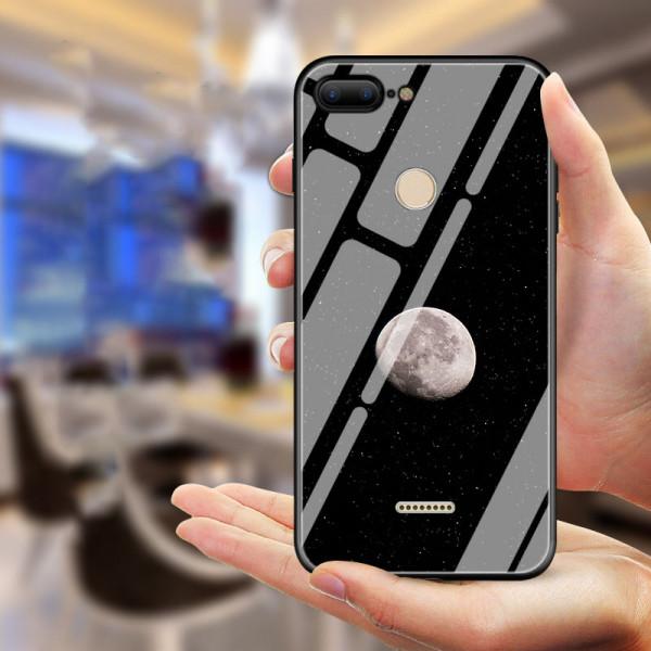 Глянцевый силиконовый бампер для Xiaomi Redmi 6 с картинкой Луна