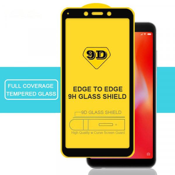 Защитное стекло с полным покрытием 9D для телефона Xiaomi Redmi 6