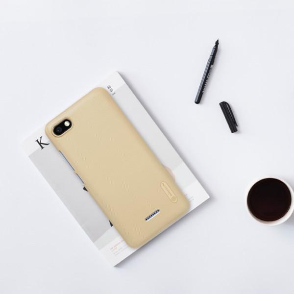 Чехол бампер Nillkin Frosted shield для Xiaomi Redmi 6a Золотой
