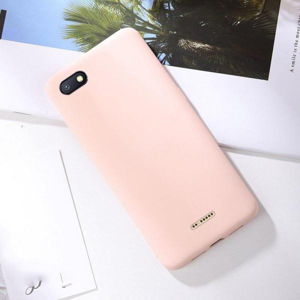 Силиконовый чехол Soft Touch для Xiaomi Redmi 6a Розовый