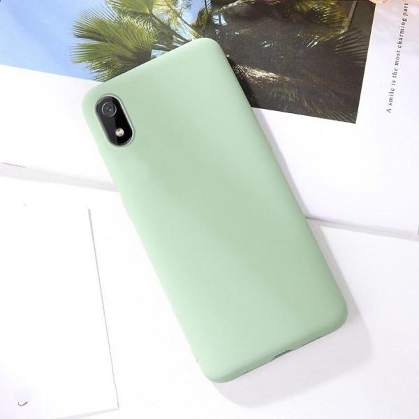 Силиконовый чехол Soft Touch для Xiaomi Redmi 7a Зеленый