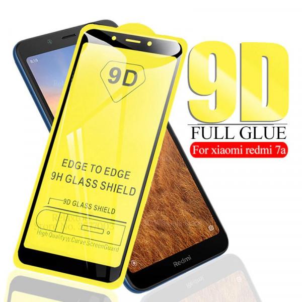 Защитное стекло с полным покрытием 9D для телефона Xiaomi Redmi 7a