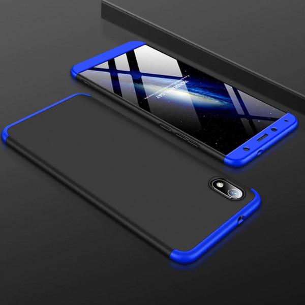 Матовый защитный чехол GKK 360° для Xiaomi Redmi 7a Чёрно-синий