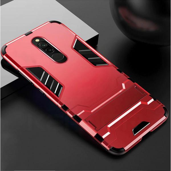 IronMan ультратонкий защитный бампер для Xiaomi Redmi 8 Красный
