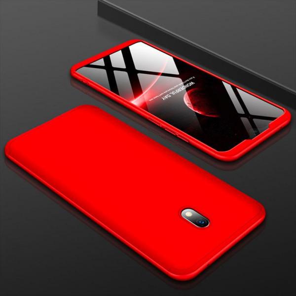 Матовый защитный чехол GKK 360° для Xiaomi Redmi 8a Красный