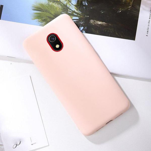 Силиконовый чехол Soft Touch для Xiaomi Redmi 8a Розовый